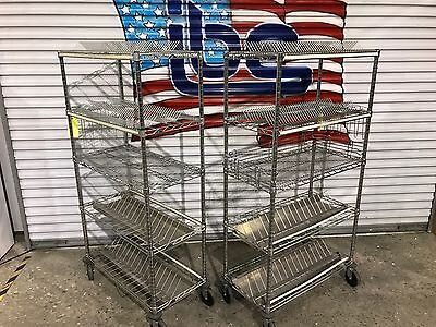 Lot of (2) Metro Wire Component Carts
