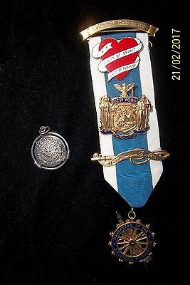 Lot 0F 7 Dar Gold Daughters Of The American Revolution Ribbon Ex Chapter Regent