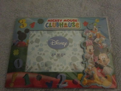 DISNEY'S MICKEY MOUSE CLUBHOUSE MAGNETIC PICTURE FRAME 4 X 6 NEW In Package