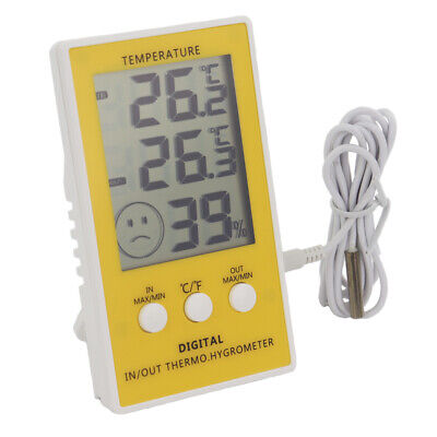 Max Min Reptile Tank Thermometer - Main Unit Hygrometer In/out 1M Cable - In-064