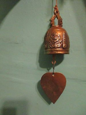 ANTIQUE ORNATE BRASS? BELL CHIME DRAGON DESIGN TOP Chinese Asian  ?