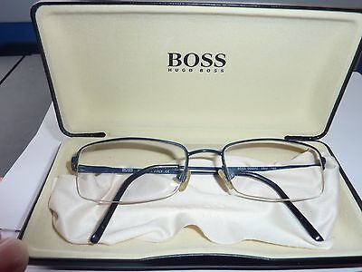 Hugo Boss Eye Glasses,made In Italy Complete With Clamshell Case And  Cloth
