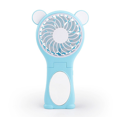 YooFan Bear Mirror and Portable Handheld Mini Fan Foldable Desktop Fans with 186
