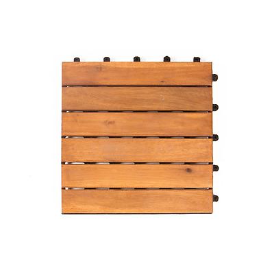 Vanage Lot de 12 dalles en bois Set de Il kachel Design : Classic, m
