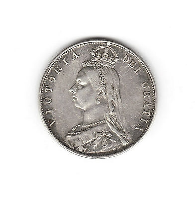 Scarce 1891 Victoria Silver Half Crown - Jubilee head. Nice definition Ref: 4/20