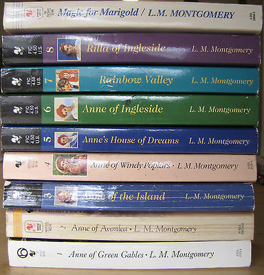 Anne of Green Gables Complete Set Lot 8 PB Books VG L.M. Montgomery + 1 Extra