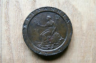 Nice graded 1797 George III Cartwheel Two Pence coin.    Ref 6/3