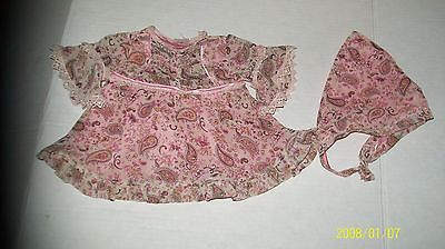 CABBAGE PATCH KIDS TRU GIRLS PINK paisley dress w/hat