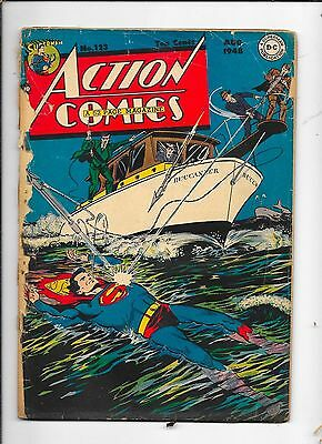 superman comic #123 1st time superman flying in comics,1948,awesome