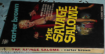 THE SAVAGE SALOME by Carter Brown, rare US Signet crime noir gga pulp vintage pb