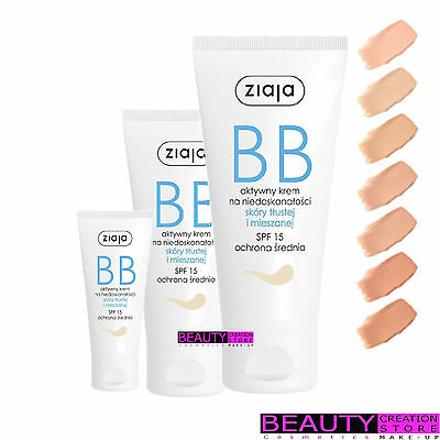 ZIAJA BB Active Cream For Imperfections Oily And Mixed Skin CHOOSE 50ml ZI079