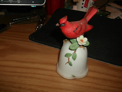 Enesco Cardinal Bell Dated 1983. The Bell Is In Beautiful Condition