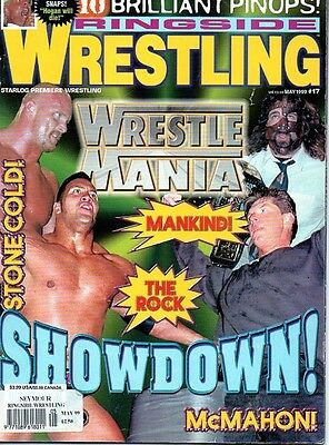 Ringside Wrestling Magazine May 1999 Stone Cold/The Rock/Mankind/Vince On Cover