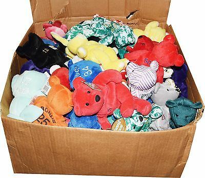 Lot of 115 Mixed NFL MLB NHL NBA Salvino Bammers Beanie Babies NWT Griffey Favre