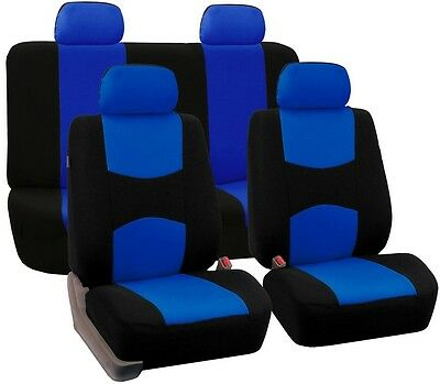 FH Group Flat Cloth 43 in. x 23 in. x 1 in. Full Set Seat Covers