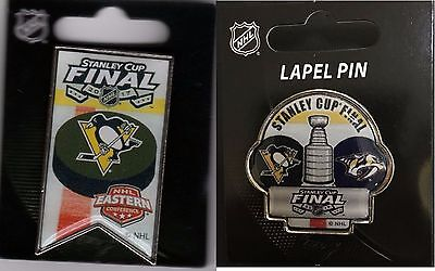 Pittsburgh Penguins Champions Two (2) Pin Set 2017 Stanley Cup Final Playoffs