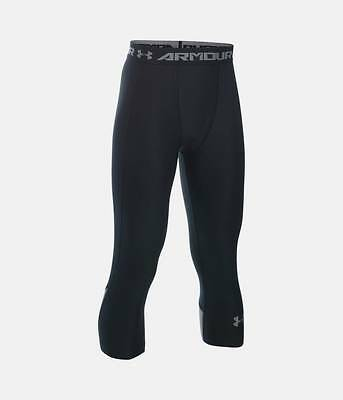NWT UNDER ARMOUR Boys HeatGear Armour Up Fadeaway Fitted 3/4 Leggings 1271872 LG