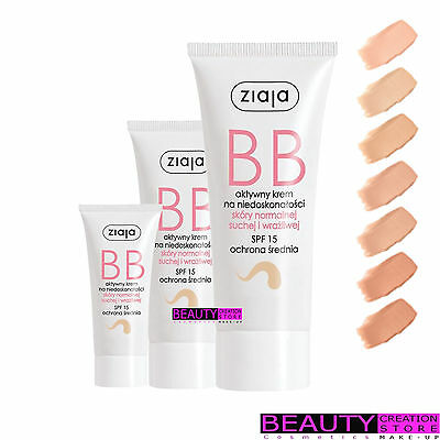 ZIAJA BB Active Cream For Imperfections Nromal Dry Sensitive Skin CHOOSE ZI080