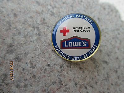 Pin Hat Lapel LOWES/American red Cross