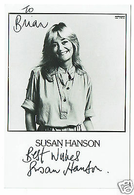 Susan Hanson British Actress Crossroads Hand Signed Photograph 6 x 4