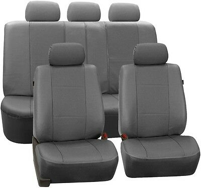 FH Group Deluxe Leatherette 47 in. x 23 in. x 1 in. Full Set Seat Covers