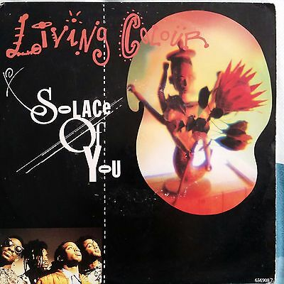 """LIVING COLOUR SOLACE OF YOU Vinyl 7"""" Single 45 Record 1991"""