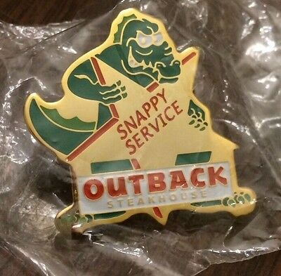 Outback Steakhouse Snappy Service Alligator Pin Rare New In Package