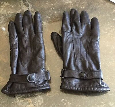 Stylish Brown Leather Barbour Gloves / Used Good Condition