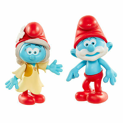 Papa Smurf and Smurfwillow - Smurfs The Lost Village - 2 Figure Pack - NEW