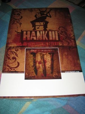 HANK WILLIAMS JR-(hank lll-staight to hell)-11X17 POSTER-NMINT