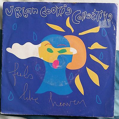 """URBAN COOKIE COLLECTIVE FEELS LIKE HEAVEN Vinyl 7"""" Single 45 Record 1992"""