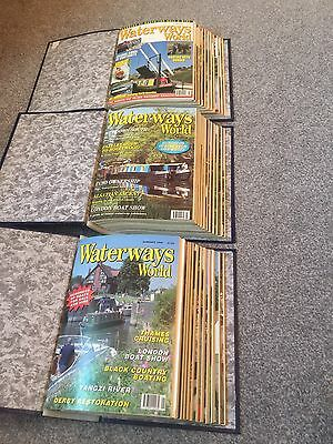 Waterways World Job lot Big Collection Canal Boat Magazines 96 97 99 Collectable