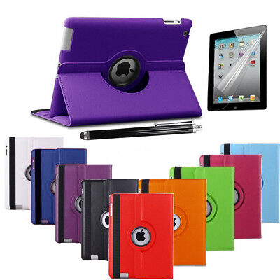 Leather 360 Degree Rotating Smart Stand Case Cover iPad Mini 1 2 34 Air Wifi Pro