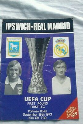 Ipswich Town v Real Madrid UEFA Cup Football Programme 1973/74