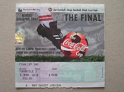LEICESTER CITY v MIDDLESBROUGH Coca-Cola / League Cup Final 06/04/1997 (Ticket)