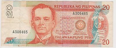 (N2-174) 1997 Philippines 20 peso bank note (E)