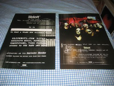 SLIPKNOT-(you cannot kill-what you did not create)-1 POSTER-2 SIDED-NMINT-RARE