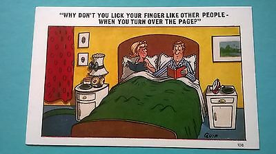 Sapphire Quip Post Card Saucy Seaside Comic Humour no 108 Unposted