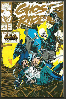 Ghost Rider Comic Book #5 GOLD with Punisher Part 1 of 2 Marvel Comics 1990 NM