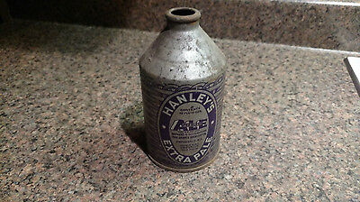 HANLEY'S EXTRA PALE ALE (Crowntainer) cone top beer can Vintage