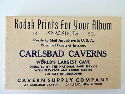 Carlsbad Caverns NM vintage 1940s Kodak Prints for Your Album 14 B&W Snapshots