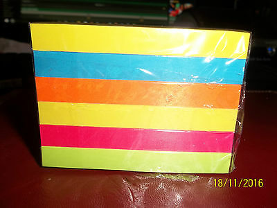 3  PACK OF 100 POST-IT NOTES 3M 76 X 76mm BRIGHT COLOURS