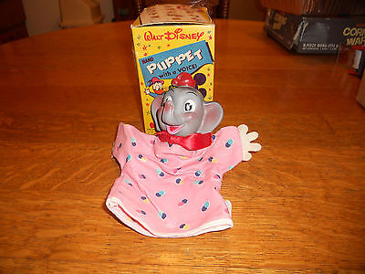 Walt Disney's Gund Dumbo Vintage Hand Puppet In Original Window Box Rare 1960's