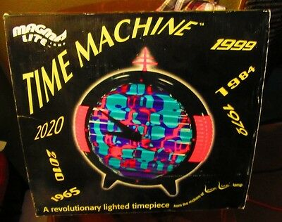 Magma Lite Time Machine Clock light from Lava World new in box from lamp people