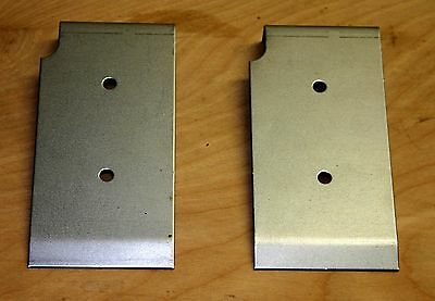 Reinforcing Plates, set of 2, for under the hood grease gun, WW2 jeep parts