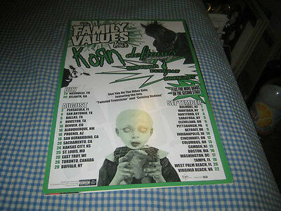 KORN-DEFTONES-(family values tour)-1 POSTER-11X17-NMINT-RARE