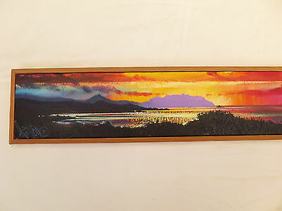 Gorgeous Original Hawaiian Sunset Oil Painting Kaneohe Bay Signed Hirayama 2004