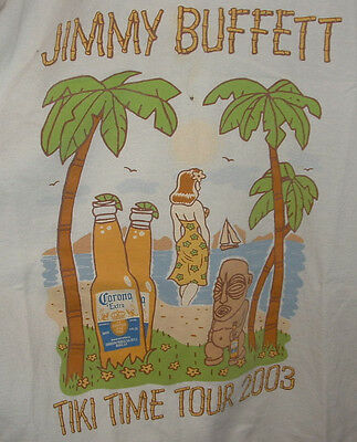 Mens M&O Jimmy Buffet TIKI Time Tour 2003 Size XL T-Shirt Heavy Weight Cotton