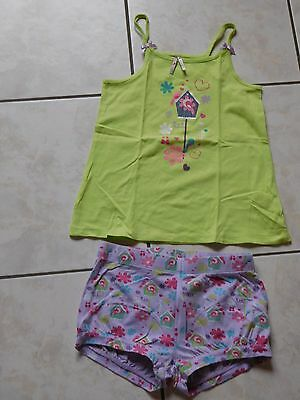 Joli Pyjashort 2 Pieces Printemps Ete  Fille T 10 Ans  Orchestra Tbe