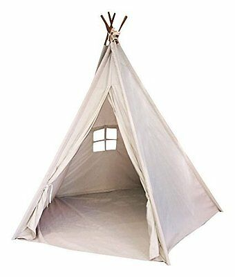 Indoor TeePee Tent – 6 Foot Tall Classic Indian Play Tent for Kids with F
